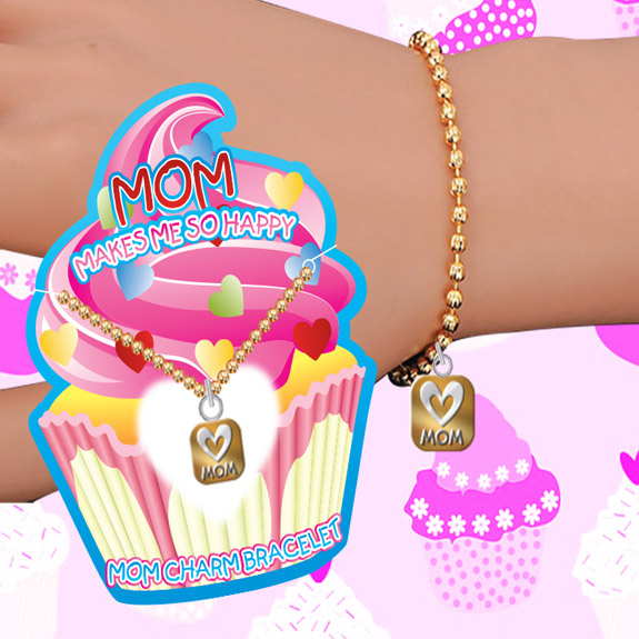 Mom Makes Me Happy Charm Bracelet - Mom Gifts - Santa Shop Gifts