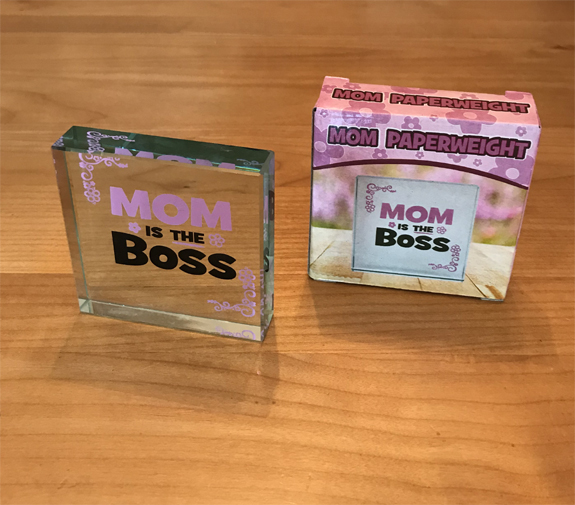 Mom is Boss Paperweight - Mom Gifts - Santa Shop Gifts