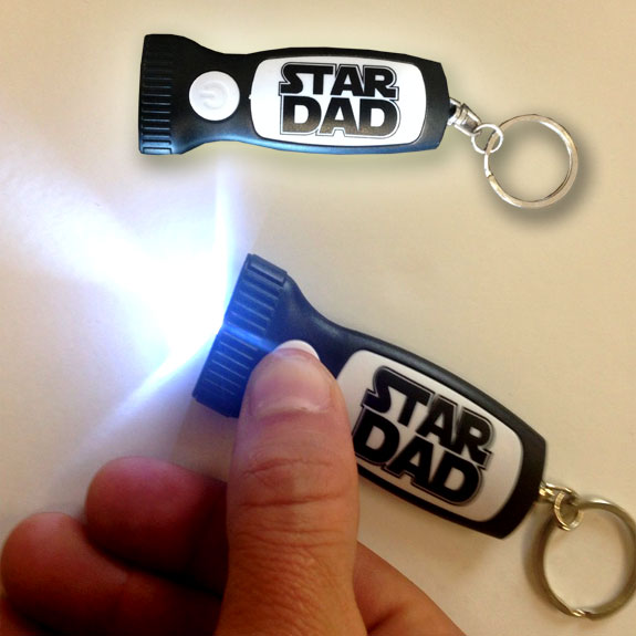 Star Dad Flashlight Key Chain - Dad Gifts - Santa Shop Gifts