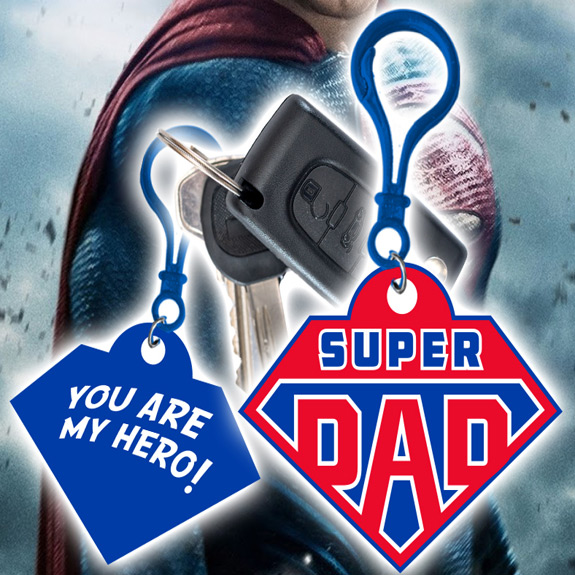 Super Dad Clip - Dad Gifts - Santa Shop Gifts