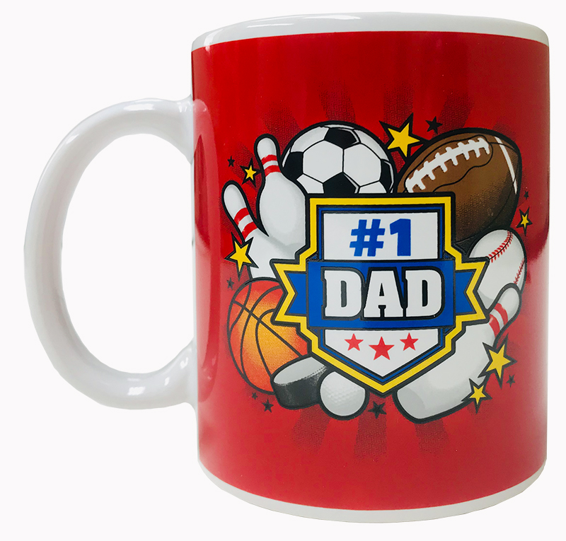 Dad Mug with Sports Theme - Dad Gifts - Santa Shop Gifts