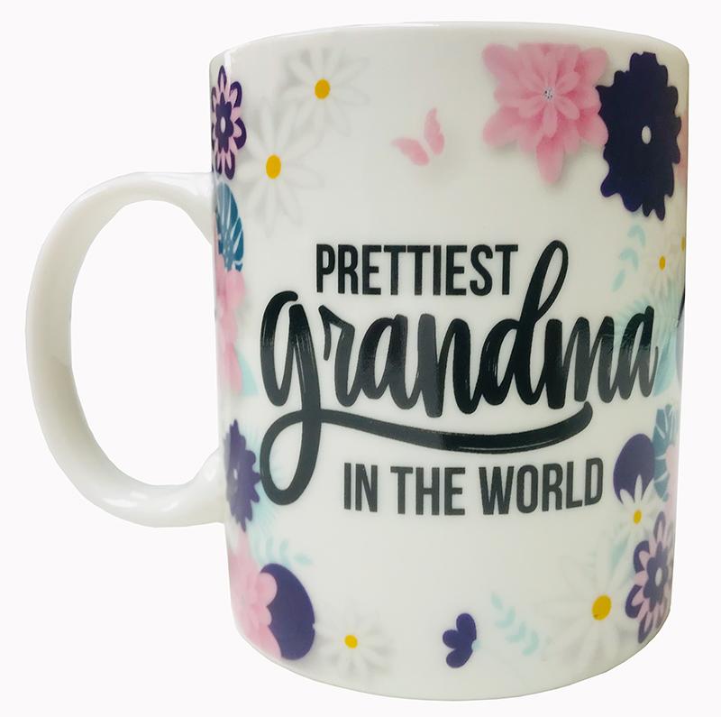 Prettiest Grandma Mug - Grandma Gifts - Santa Shop Gifts