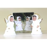 Porcelain Angel Bells Set of 2 - Christian Gifts - Santa Shop Gifts