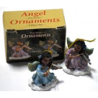 African American Angel Ornaments - Christian Gifts - Santa Shop Gifts