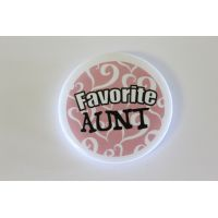 Favorite Aunt Pin - Aunt Gifts - Santa Shop Gifts