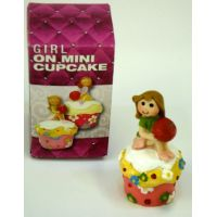 Girl On Mini Cupcake Figure - Gifts For Women - Santa Shop Gifts