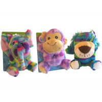 Safari Plush Animal Baby Rattle - Baby Gifts - Santa Shop Gifts
