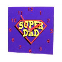 Super Dad Wall Clock - Dad Gifts - Santa Shop Gifts