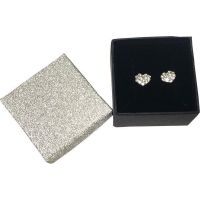 Crystal Heart Earrings In Gift Box - Jewelry Gifts - Santa Shop Gifts