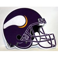 Minnesota Vikings Helmet Pennant - Sports Team Logo Gifts - Santa Shop Gifts