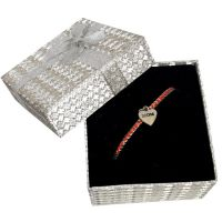 Mom Heart Charm Bracelet Silver Box - Mom Gifts - Santa Shop Gifts