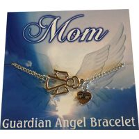 Mom Silver Angel Bracelet - Mom Gifts - Santa Shop Gifts
