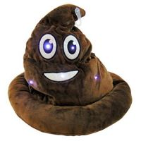 Light Up Emoticon Poo Hat - Plush Gifts - Santa Shop Gifts