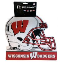 Wisconsin Badgers Helmet Pennant - Sports Team Logo Gifts - Santa Shop Gifts