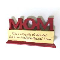 Mom Polystone Plaque - Mom Gifts - Santa Shop Gifts