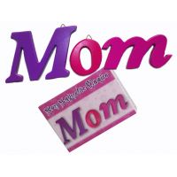Mom 3pc Wood Plaque - Mom Gifts - Santa Shop Gifts