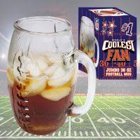 Coolest Fan Football Glass Mug - Gifts For Men - Santa Shop Gifts