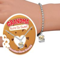 Grandma You're Sweet Charm Bracelet - Grandma Gifts - Santa Shop Gifts