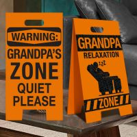 Grandpa Relaxation Zone Sign - Grandpa Gifts - Santa Shop Gifts