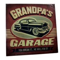 Grandpas Garage Plaque