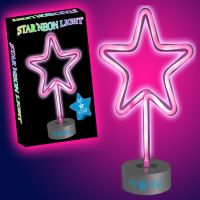 Star Neon Light in Pink - Gifts For Boys & Girls - Santa Shop Gifts