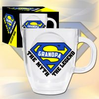Super Grandpa Glass Mug - Grandpa Gifts - Santa Shop Gifts
