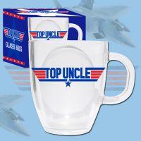 Top Uncle Glass Mug - Uncle Gifts - Santa Shop Gifts